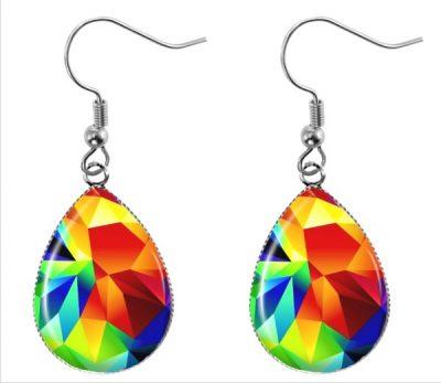 Colorful Geometric Earrings Dangle Earrings