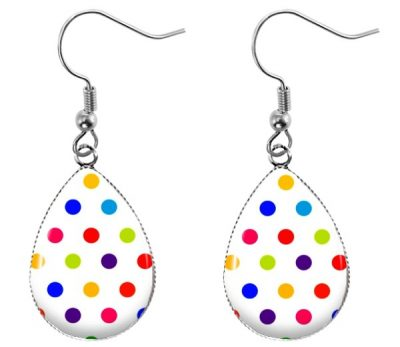Polka Dot Earrings Dangle Earrings