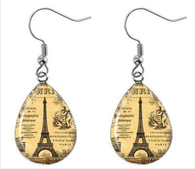Paris Teardrop Earrings Dangle Earrings