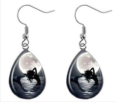 Mermaid Moon Earrings Dangle Earrings