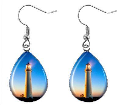 Lighthouse Teardrop Earrings Dangle Earrings