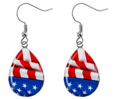 US Flag Earrings Dangle Earrings