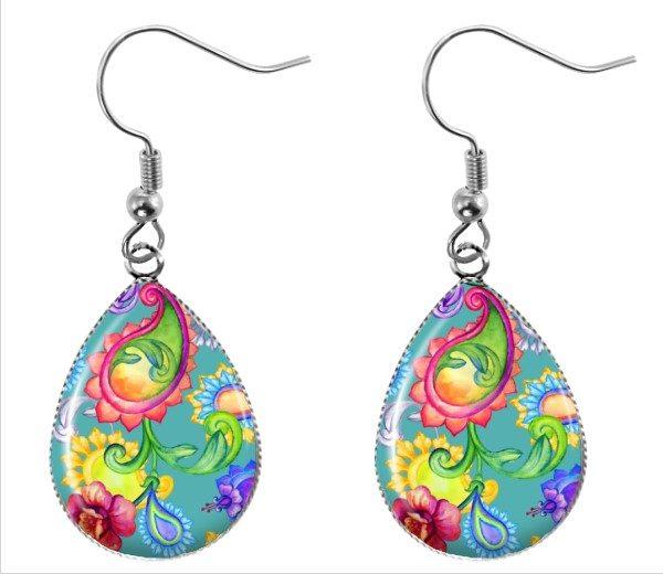 Paisley Teardrop Earrings Dangle Earrings