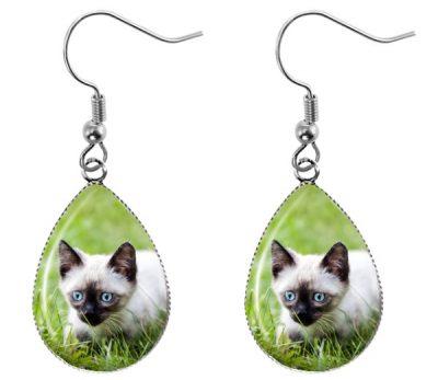 Siamese Cat Earrings Dangle Earrings