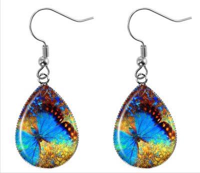 Butterfly Teardrop Earrings Dangle Earrings