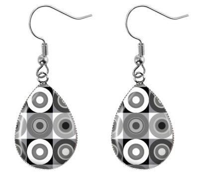 Monochrome Retro Earrings Dangle Earrings