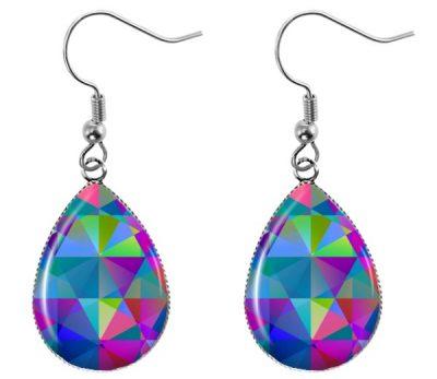Gemtone Teardrop Earrings Dangle Earrings
