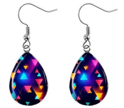 Neon Triangle Earrings Dangle Earrings