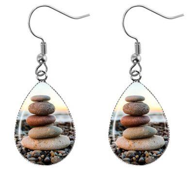 Zen Stones Earrings Dangle Earrings