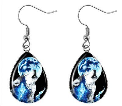 Howling Wolf Earrings Dangle Earrings
