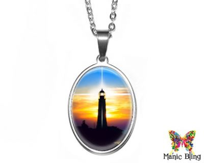 Lighthouse Oval Pendant 18x25mm oval