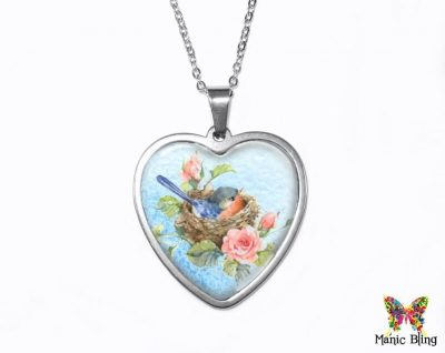 Birds Nest Heart Pendant Heart Pendants