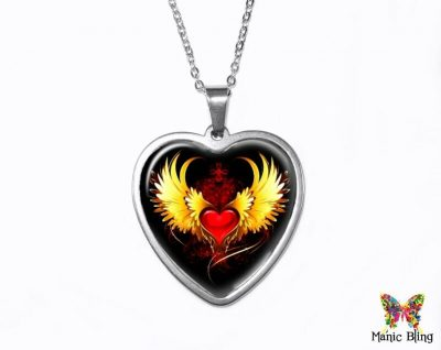 Winged Heart Pendant Heart Pendants