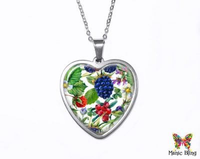 Wild Berries Pendant Heart Pendants