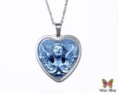 Stone Angel Heart Pendant Heart Pendants