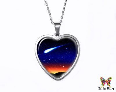 Shooting Star Heart Pendant Heart Pendants