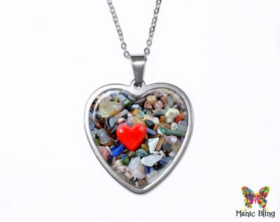 River Stones Heart Pendant