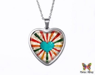 Retro Heart Pendant Heart Pendants