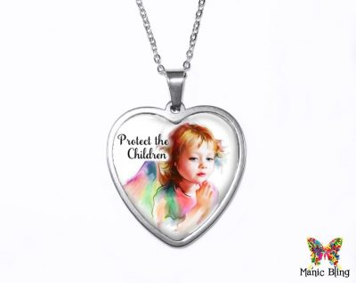 Protect The Children Heart Pendant Heart Pendants