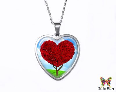 Heart Tree Pendant Heart Pendants