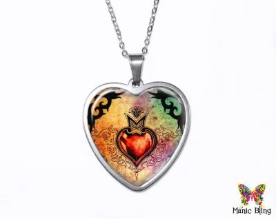 Gothic Heart Pendant
