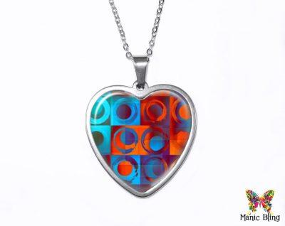 Geometric Heart Pendant
