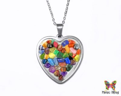 Gemstone Heart Pendant Heart Pendants