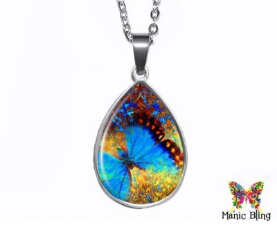Butterfly Teardrop Pendant Easter