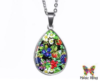 Wild Berries Teardrop Pendant Easter