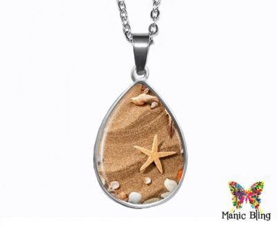 Starfish Teardrop Pendant Easter