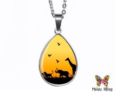 Safari Animal Teardrop Pendant Easter