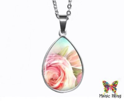 Rose Teardrop Pendant Easter