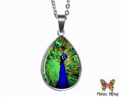 Peacock Teardrop Pendant Easter