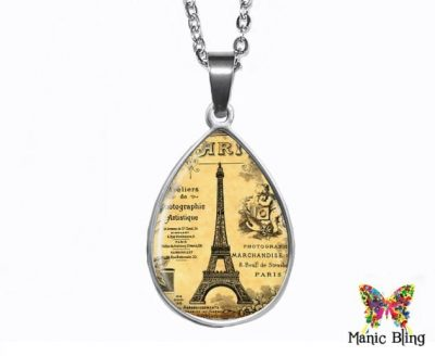 Paris Teardrop Pendant Easter