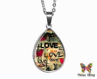 Love Teardrop Pendant Easter