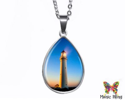 Lighthouse Teardrop Pendant