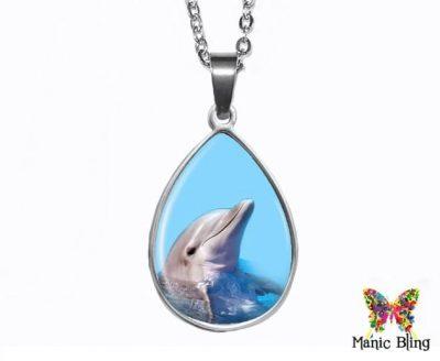 Dolphin Teardrop Pendant Easter