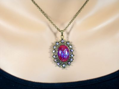 Dragons Breath Opal Crystal Necklace