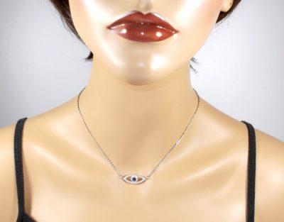 CZ Blue Eye Necklace