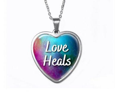 Love Heals Heart Pendant