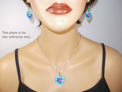 Santa Heart Jewelry Set