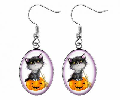 Halloween Cat Earrings Halloween