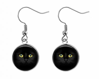 Black Cat Earrings Halloween
