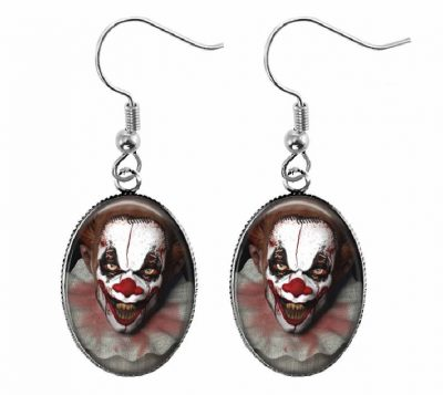 Scary Clown Earrings Halloween