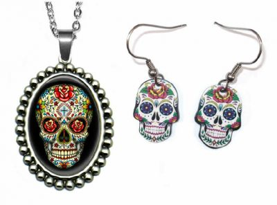 Day of the Dead Jewelry Set Halloween