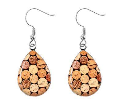 Wine Cork Earrings Dangle Earrings
