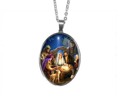 Large Nativity Pendant Christmas & Thanksgiving