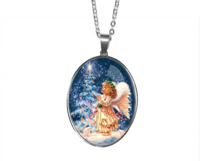 Large Christmas Angel Pendant