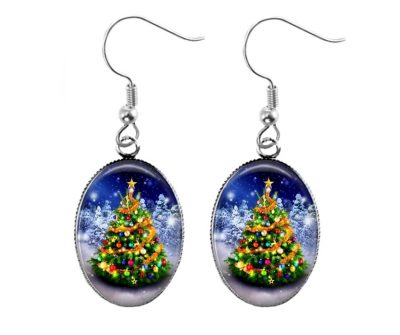 Christmas Tree Earrings Christmas & Thanksgiving