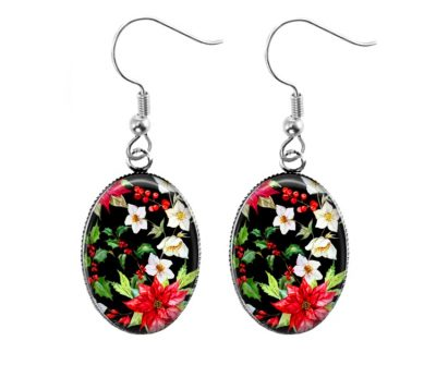 Christmas Flower Earrings